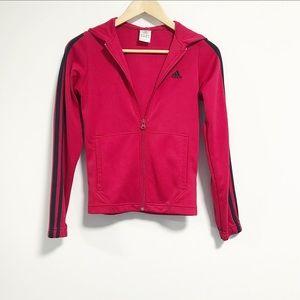 Adidas. Like new. Hooded Zip up track jacket